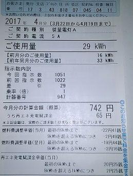 電気代800円