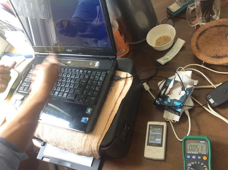 ノートパソコンの電磁波