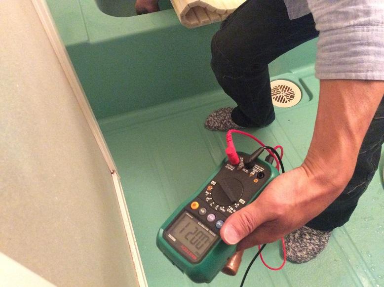 お風呂の電磁波環境
